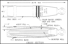 155mm Projectile, M104