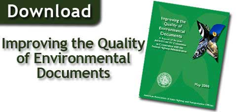 Improving the Quality of Environmental Documents Report